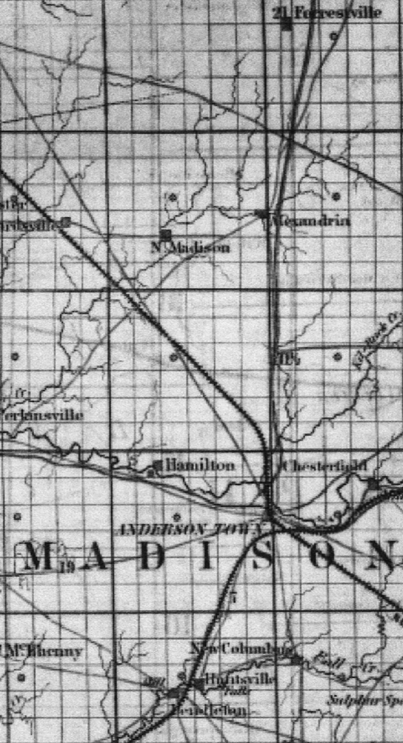 Indiana madison county markleville -  Carefully Laid Down It Should Be Noted That The Small And Larger Squares Are Not Roads But Merely Designate How The Forested Still Thinly Populated
