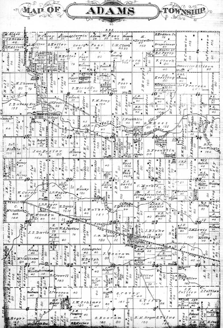 Indiana madison county markleville - Click Here For Modern Map Of Township Cemeteries