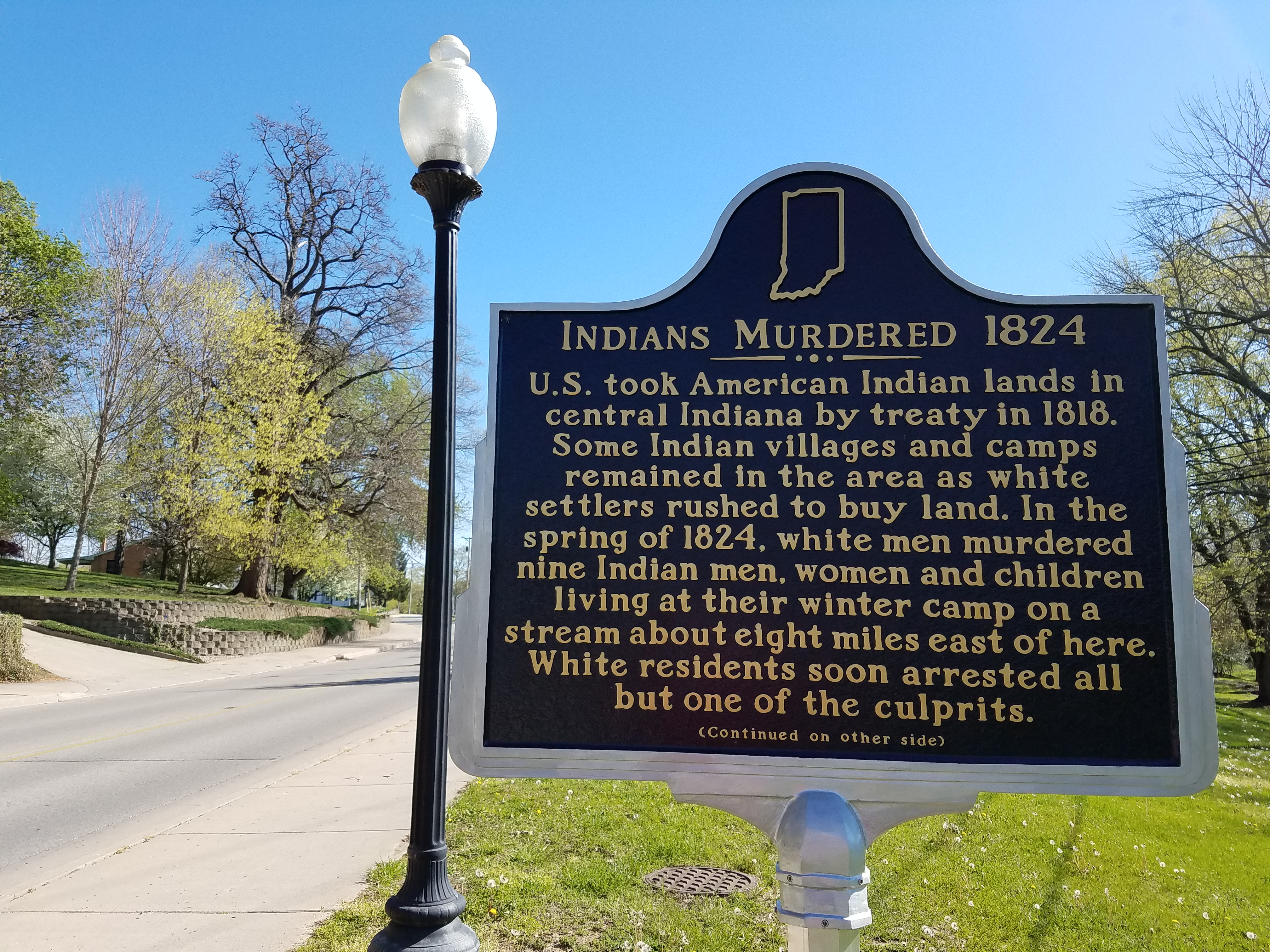 Indiana madison county markleville - Near The Spot Where The Executions Were Held Stands This Indiana Historic Marker Commemorating The Event It Is On The North Bank Of Fall Creek Within The